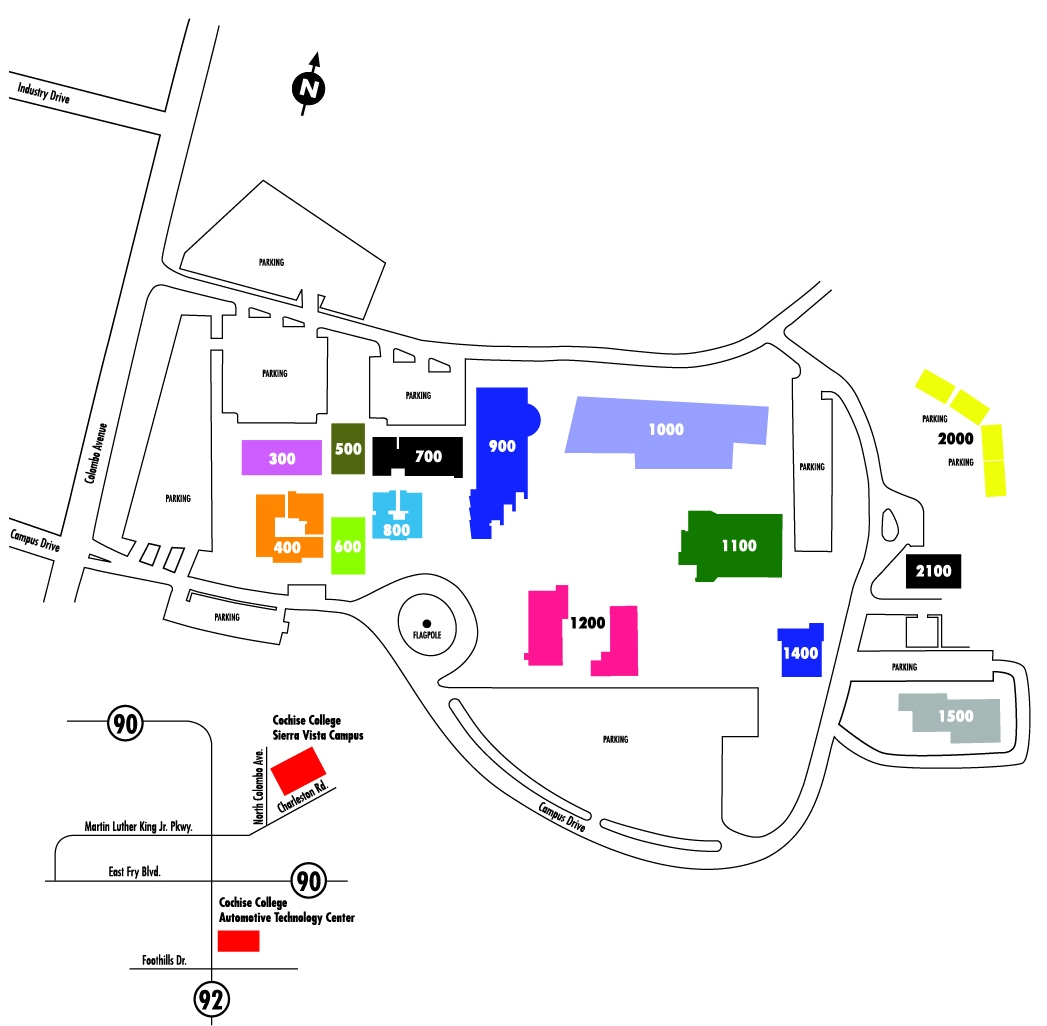 image relating to University of Arizona Campus Map Printable referred to as Neighborhood and Campus Maps